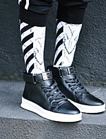 cheap -Men's Shoes Leatherette Winter Fall Comfort Sneakers for Casual White Black