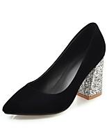 Недорогие -Жен. Обувь Дерматин Весна Лето Удобная обувь Обувь на каблуках На толстом каблуке Заостренный носок для Повседневные на открытом воздухе