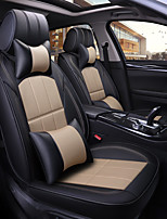 cheap -Car Seat Covers Headrest & Waist Cushion Kits PU Leather For universal All years All Models