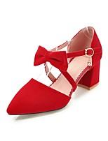 abordables -Femme Chaussures Similicuir Printemps Eté Confort Chaussures à Talons Talon Bottier Bout pointu pour De plein air Noir Beige Jaune Rouge