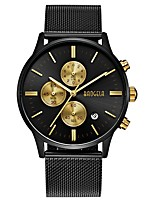 cheap -BAOGELA Men's Quartz Fashion Watch Casual Watch Chinese Stopwatch Three Time Zones Alloy Band Casual Fashion Black Silver Gold Rose Gold