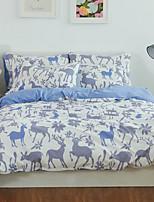 preiswerte -Bettbezug-Sets Blumen 3 Stück Polyester / Baumwolle 100% Baumwolle Bedruckt Polyester / Baumwolle 100% Baumwolle 1 Stk. Bettdeckenbezug 1