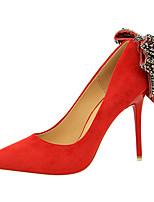 abordables -Mujer Zapatos Ante Primavera Otoño Confort Tacones Tacón Stiletto Punta cerrada para Oficina y carrera Gris Rojo Rosa Caqui Verde Oscuro