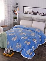 cheap -Coral fleece, Reactive Print Plants Cartoon Cotton/Polyester Polyester Blankets
