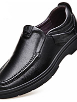 cheap -Men's Shoes Cowhide Winter Fall Comfort Loafers & Slip-Ons for Casual Black Brown