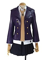 cheap -Inspired by Dangan Ronpa Kyoko Kirigiri Cosplay Anime Cosplay Costumes Cosplay Suits Other Long Sleeves Coat Top Skirt Gloves Tie For