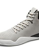 Недорогие -Муж. обувь Искусственное волокно Осень Удобная обувь Кеды для Повседневные Черный Серый