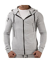 cheap -Men's Sports Simple Long Sleeves Slim Hoodie - Solid Colored Hooded