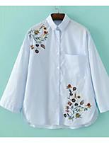 preiswerte -Damen Blumen-Einfach Hemd,Ständer
