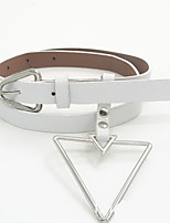 cheap -Women's Vintage Leather Alloy Waist Belt - Solid Colored
