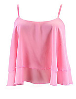 cheap -Women's Going out Holiday T-shirt - Solid Colored, Mesh Strapless