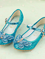 cheap -Girls' Shoes Sparkling Glitter Spring Summer Flower Girl Shoes Comfort Sandals Bowknot Buckle for Wedding Dress Gold Silver Blue Pink