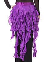 abordables -Danza del Vientre Ordinario Pañuelos de Cadera para Danza del Vientre Mujer Entrenamiento Rendimiento Poliéster Cinturón Fruncido Moderno