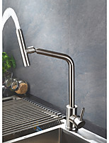 cheap -Kitchen faucet - Professional Nickel Brushed Tall / ­High Arc Free Standing