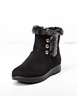 cheap -Women's Shoes Fabric Fall Winter Snow Boots Comfort Boots Low Heel Booties/Ankle Boots for Casual Black Brown Burgundy
