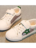 cheap -Girls' Boys' Shoes PU Spring Fall Comfort Sneakers for Casual Pink/White Black/White White/Green