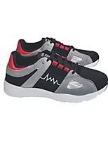 preiswerte -Herrn Schuhe Stoff Frühling Herbst Komfort Sneakers für Normal Schwarz Rot