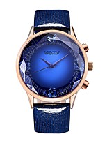 cheap -BAOGELA Women's Quartz Fashion Watch Sport Watch Casual Watch Chinese Large Dial Genuine Leather Band Vintage Fashion Blue Red Purple