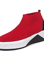 cheap -Men's Shoes Synthetic Spring Fall Comfort Sneakers for Casual Outdoor Black Red