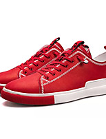 baratos -Homens sapatos Micofibra Sintética PU Primavera Outono Conforto Tênis para Casual Branco Preto Vermelho
