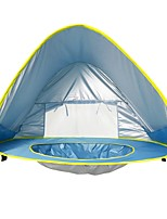 cheap -1 person Beach Tent Screen Tent Single Camping Tent One Room Automatic Tent Windproof UV resistant Lightweight for Outdoor Exercise Beach