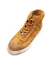 Недорогие -Муж. обувь Свиная кожа Зима Осень Удобная обувь Кеды для Повседневные на открытом воздухе Черный Серый Хаки