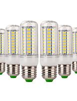cheap -YWXLIGHT® 6pcs 7W 600-700 lm E14 E26/E27 LED Corn Lights 72 leds SMD 5730 Decorative Warm White Cold White AC 220-240V