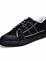 Недорогие -Муж. обувь Полотно Весна Осень Удобная обувь Кеды для Повседневные Белый Черный Черно-белый