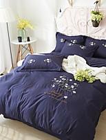 cheap -Duvet Cover Sets Floral 3 Piece Poly/Cotton 100% Cotton Printed Poly/Cotton 100% Cotton 1pc Duvet Cover 1pc Sham 1pc Flat Sheet