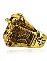 cheap -Men's Statement Ring , Gold Silver Rainbow Alloy Cross Colorful Cool Rock Bar Club Costume Jewelry