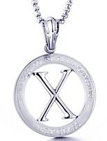abordables -Homme Forme de Cercle Forme Décontracté Mode Cool Pendentif de collier , Acier Titane Pendentif de collier Quotidien Plein Air Bijoux de