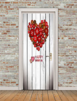 cheap -Shapes Hearts Wall Stickers Plane Wall Stickers 3D Wall Stickers Decorative Wall Stickers Door Stickers, Vinyl Home Decoration Wall Decal