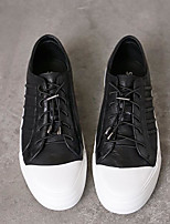 cheap -Men's Shoes Cowhide Nappa Leather Spring Fall Comfort Sneakers for Casual White Black