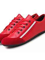 cheap -Men's Shoes Nubuck leather Spring Fall Moccasin Sneakers for Casual Black Red