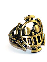 economico -Altri accessori Ispirato da One Piece Trafalgar Law Anime Accessori Cosplay Anello Cromo