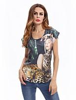 voordelige -Dames Print T-shirt dier