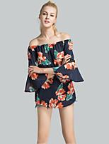 cheap -Women's Cotton Linen Polyester Blouse - Solid