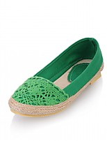 cheap -Women's Shoes Leatherette Spring Fall Novelty Comfort Flats Flat Heel Round Toe for Casual Party & Evening Red Green Blue Almond