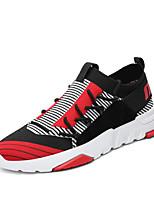 Недорогие -Муж. обувь Трикотаж Весна Лето Удобная обувь Кеды для Повседневные на открытом воздухе Черно-белый Черный/Красный