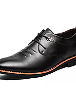 cheap -Men's Shoes PU Spring Fall Light Soles Oxfords for Office & Career Black Brown