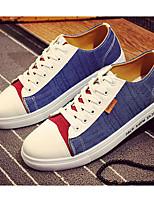 Недорогие -Муж. обувь Полотно Весна Осень Удобная обувь Кеды для Повседневные Серый Красный Синий