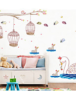 cheap -Abstract Wall Stickers Plane Wall Stickers Animal Wall Stickers Decorative Wall Stickers, Paper Home Decoration Wall Decal Wall