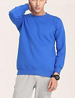 abordables -Homme Sweatshirt - Imprimé, Couleur Pleine