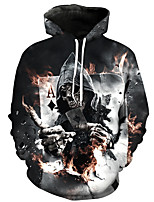 cheap -Men's Loose Hoodie - Skull Hooded