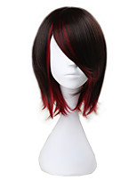 cheap -Cosplay Wigs RWBY Ruby Anime Cosplay Wigs 37cm CM Heat Resistant Fiber Men's Women's