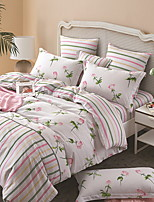 cheap -Duvet Cover Sets Floral 3 Piece Poly/Cotton 100% Cotton Printed Poly/Cotton 100% Cotton 1pc Duvet Cover 1pc Sham 1pc Flat Sheet