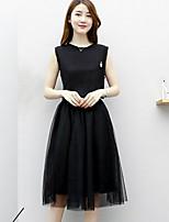 abordables -Mujer Bonito Activo Conjunto - Un Color Falda