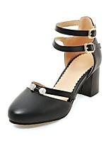 abordables -Femme Chaussures Similicuir Printemps Automne Escarpin Basique Chaussures à Talons Talon Bottier Bout rond pour Mariage Soirée & Evénement