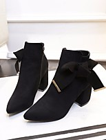 cheap -Women's Shoes PU Spring Fall Fashion Boots Comfort Boots Platform Booties/Ankle Boots for Casual Black Camel