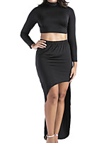cheap -Women's Sexy Set - Solid Color Skirt